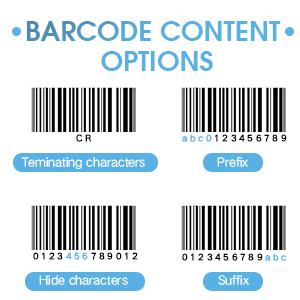 barcode content options