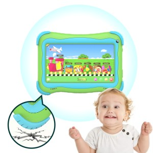 toddler tablet - Kids Tablet 7 Android Kids Tablet Toddler Tablet Kids Edition Tablet With WiFi Dual Camera Childrens Tablet 1GB + 16GB Parental Control, Google Play Store (Green)