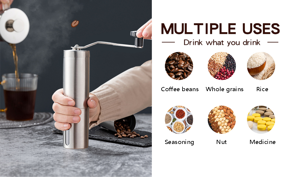 Portable Coffee Grinder for Home, Traveling, Camping, Office