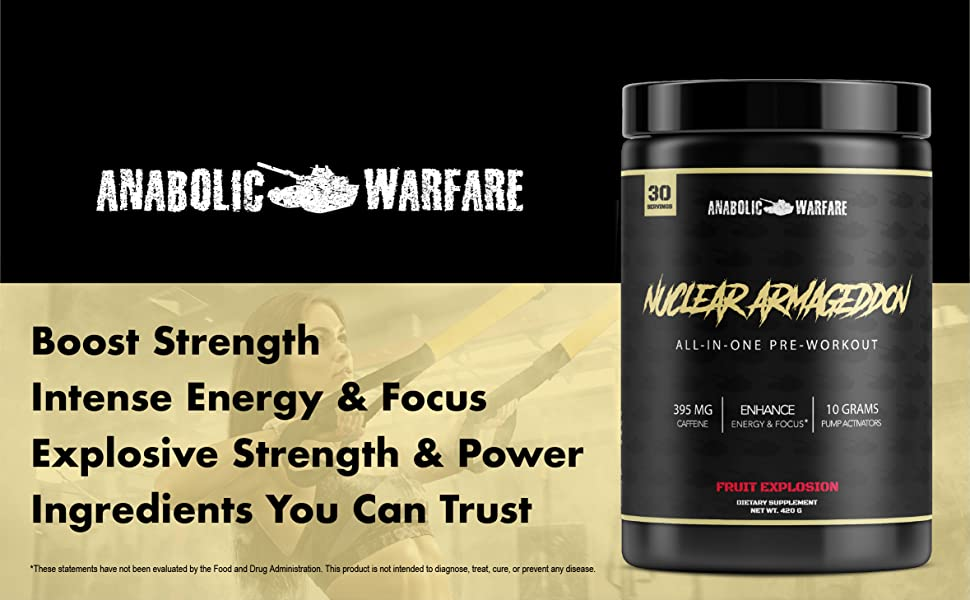 Boost Strength Intense Energy & Focus Explosive Strength & Power Ingredients You Can Trust