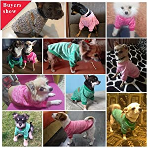 Idepet Pet Dog Classic Knitwear Sweater Fleece Coat Soft Thickening Warm Pup Dogs Shirt Winter Pet Dog Cat Clothes Puppy Customes Clothing for Small Dogs (Read The Size Chart First) 62