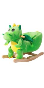 balancín mecedora niños bebes juego juguete regalo animales peluche cinturón dinosaurio sonido