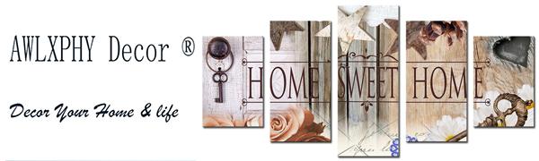 Home Sweet Home Love Wall Art Canvas