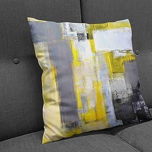 dark yellow pillow covers