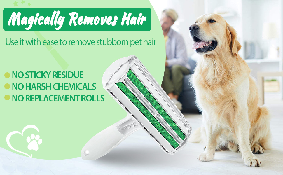 Pet Hair Remover Roller for dog cat rabbit fur reusable no sticky rollers