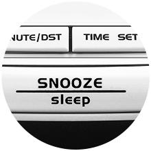 alarm clock radio with snooze