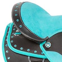 memory foam saddle seat, comfy western saddle, youth saddle, pony saddle, synthetic saddle, cordura
