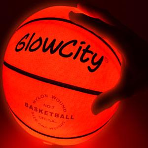 led basketball ball glow dark light-up outdoor night official size glowing luminous basketballs net