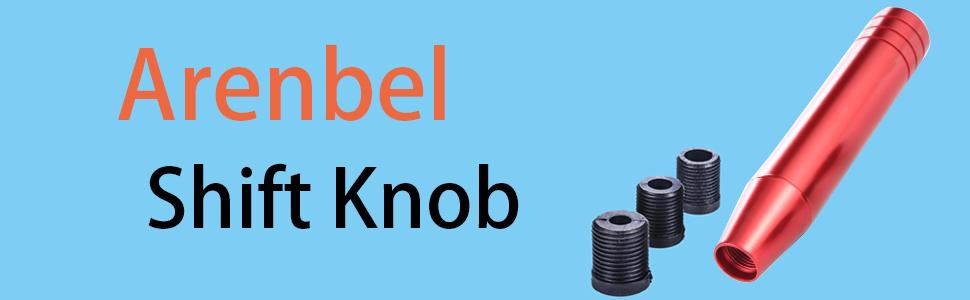 arenbel red aluminum automatic universal gear shift shifter shifting knob