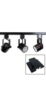 50154L-330K-BLACK 50154L 3-Light Track Lighting Kit Black 3000K Warm White