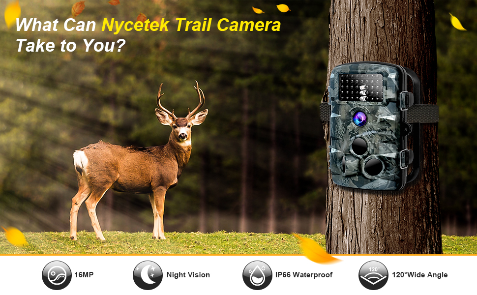 Hunting trail camera waterproof night vision infrared 1080p motion activated sensor stealth deer cam