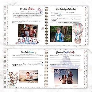 memory book journal gift gifts newborn parent parents mom dad keepsake diary photo books