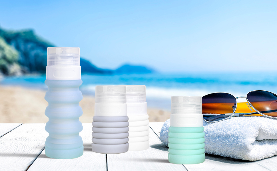 silicone travel size containers travel bottles set
