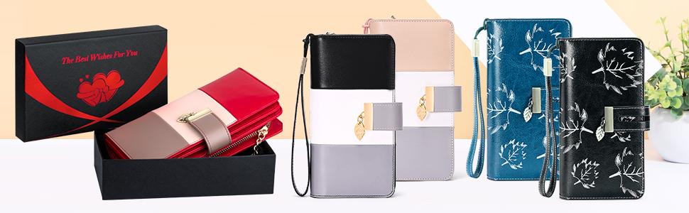 portefeuille pour femme livré avec boîte-cadeau