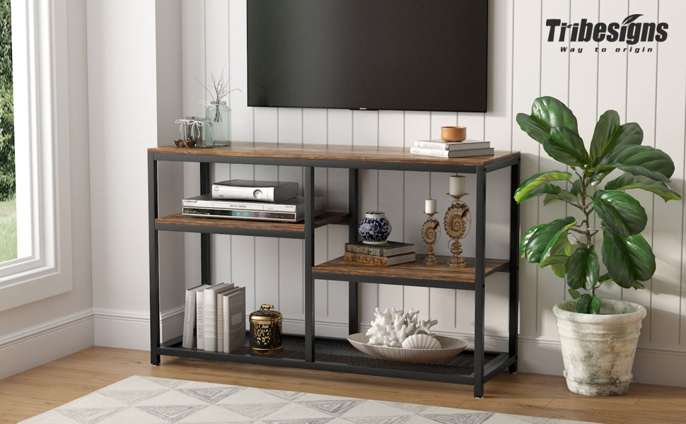 Tribesigns 4-tier vintage console table