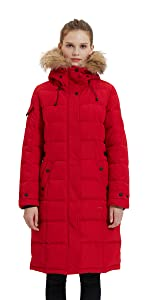 Winter puffer coat for women