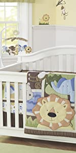 jungle theme nursery bedding