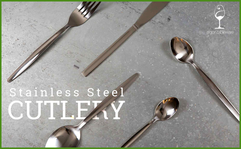 stainless steel metal cutlery argon tableware serving dinner adults silverware essential kitchen