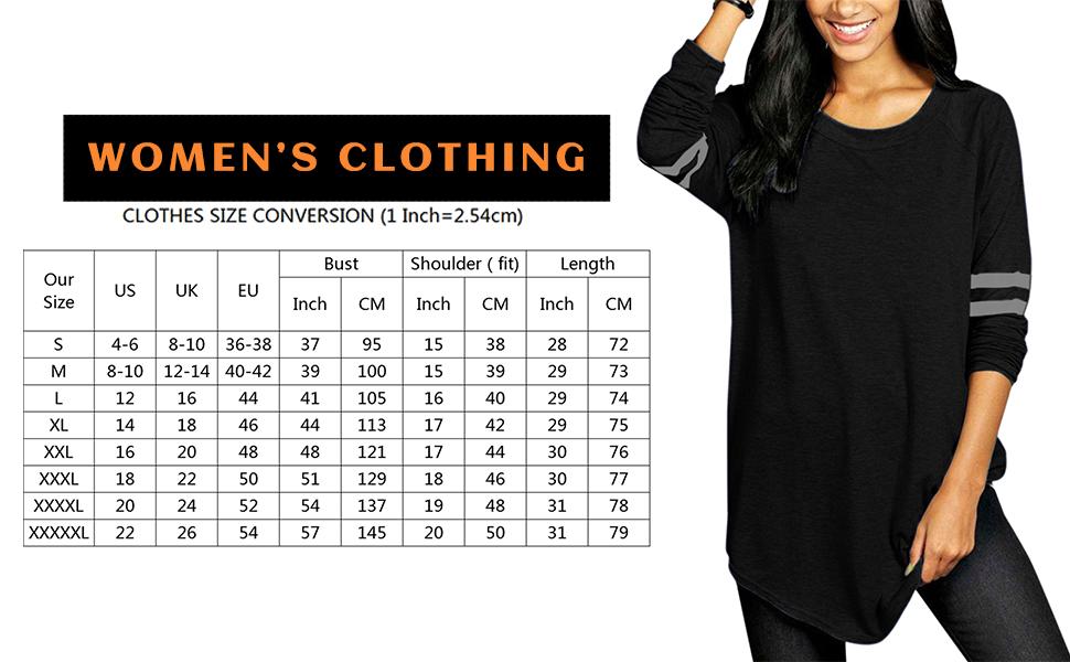 women t shirt size 14 16 18