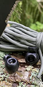 Camping Accessories for Great Outdoors and Shoelaces Use Micro ECL Cord Lock Slider Luggage Rope Twine FMS Ravenox Cord Locks for Drawstrings Bags Cord Clamp and Cord Ends to Secure String
