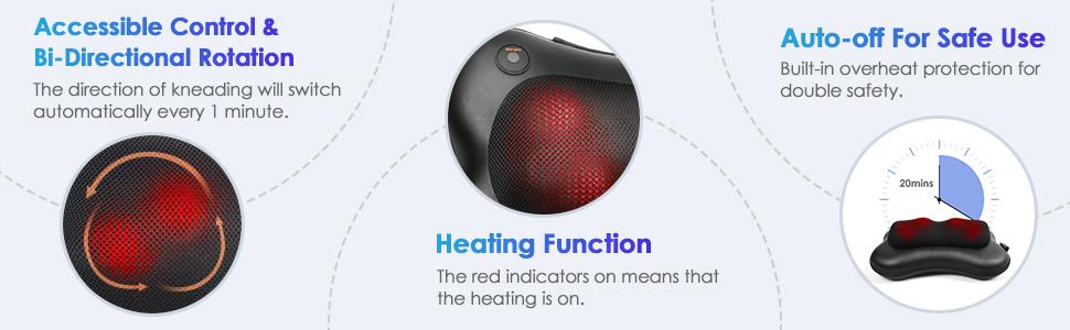 Bi direction kneading heating heat auto off