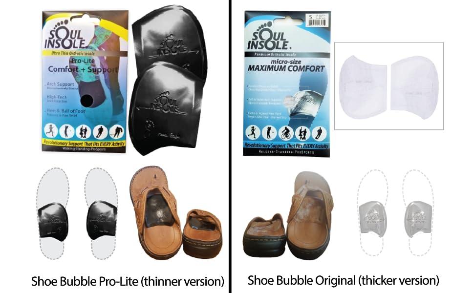 soul insole shoe bubble pro lite arch support plantar fasciitis neuroma over pronation gel arch