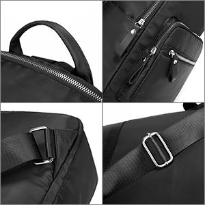 damen rucksack nylon Daypack Schultertasche Henkeltasche