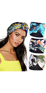 3Pcs Knotted turban headband