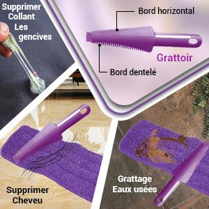 Trigger Spray, nettoyage, microfibre plat, nettoyant pour sols, jet d'eau, fin, violet.