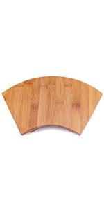 Sushi serving board tray - fan design
