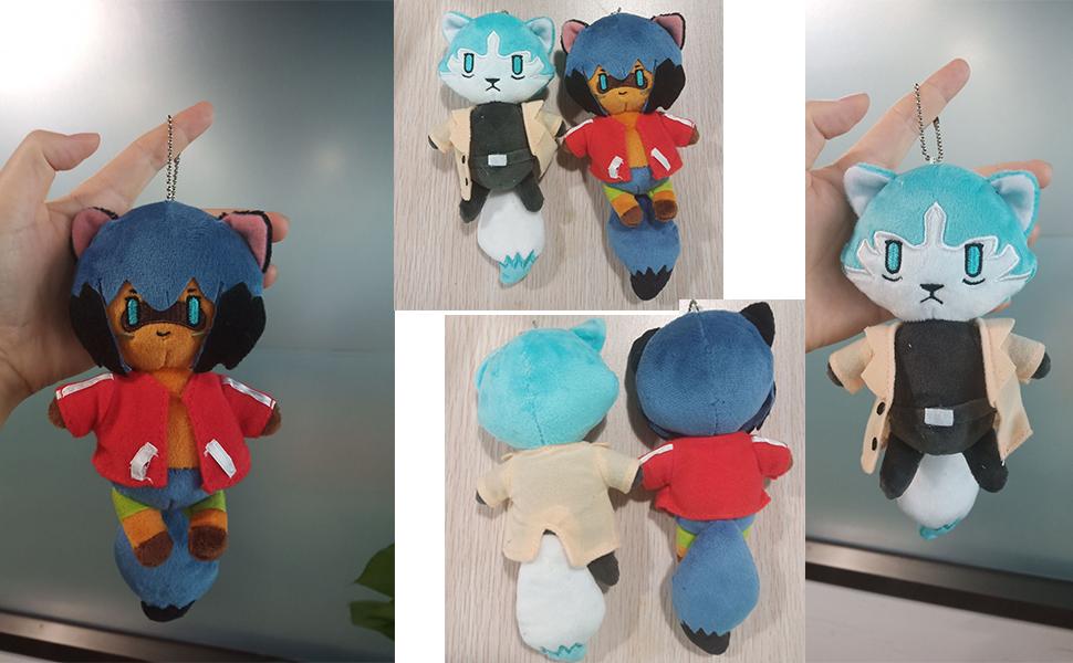 Amazon Com Lopbraa Animal Plush Keychain Kagemori Stuffed Pendant Plush Toy Anime Kagemori Michiru Plushie Toys Games