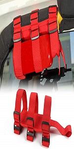 Roll Bar Fire Extinguisher Holder Strap Mount for Jeep Wrangler CJ YJ TJ LJ JK JKU JL JT
