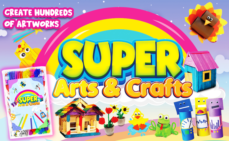 InnoRock Arts and Crafts Supplies for Kids - Assorted Craft Art Supply Kit for Toddlers Age 4 5 6 7