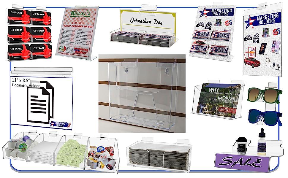 Marketing Holders Slatwall Literature Holders, Racks and Shelves