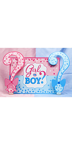 girl or boy baby shower backdrop