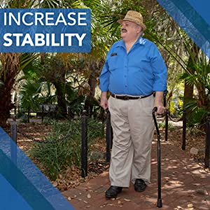 walking with StrongArm Comfort Cane