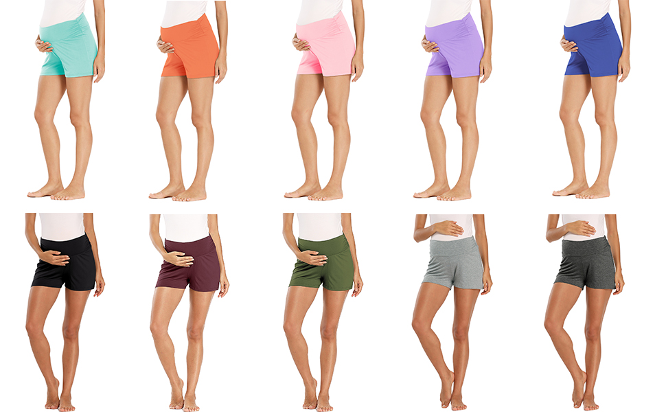 CANDY COLOR MATERNITY SHORTS