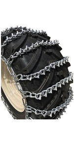 Priced per Pair TireChain.com Compatible with John Deere 430 26x12.00-12 Tire Chains