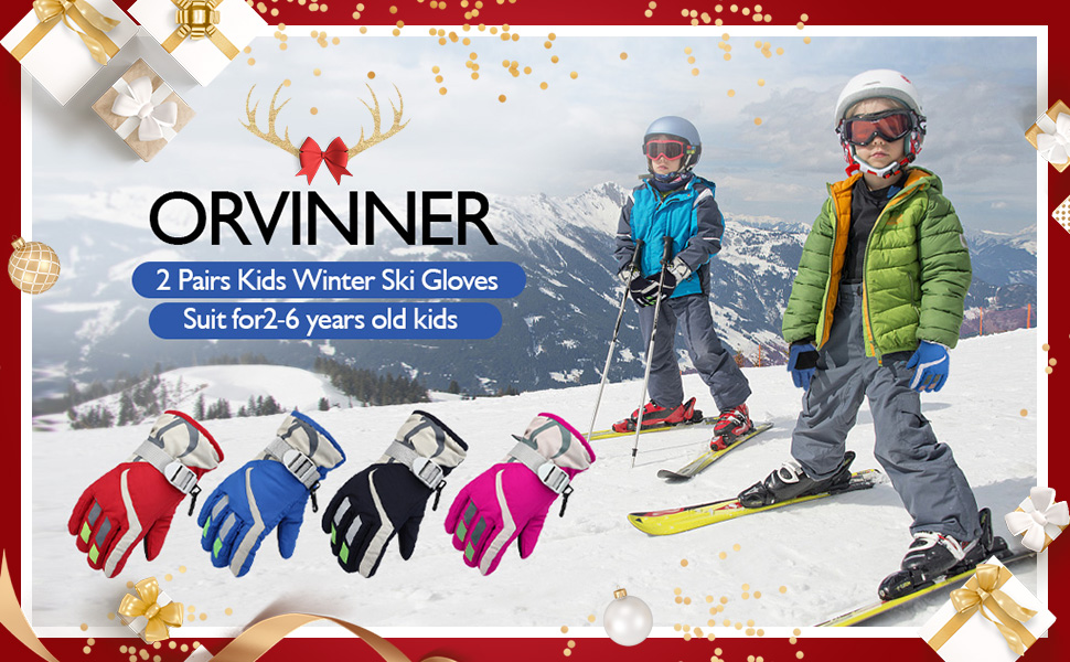 kids ski gloves mittens