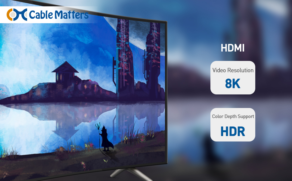 Cable Matters Cable HDMI 8K Ultra 48Gbps con 8K 120Hz y Soporte ...