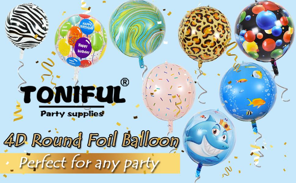 Animal Safari Birthday Round Foil Balloon I 1 Pc.