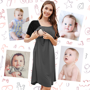 COMFY NURSING NIGHTGOWNS FOR WOMEN