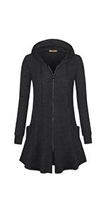 Miusey Women's Zipper Long Jacket