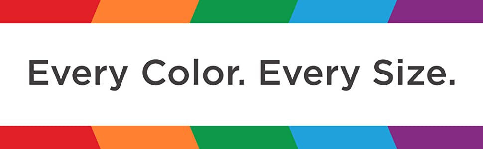 every color every size
