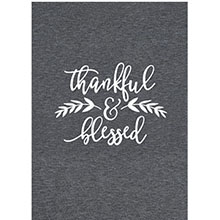 Thankful Blessed Print Tee