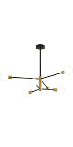 black and gold light fixture