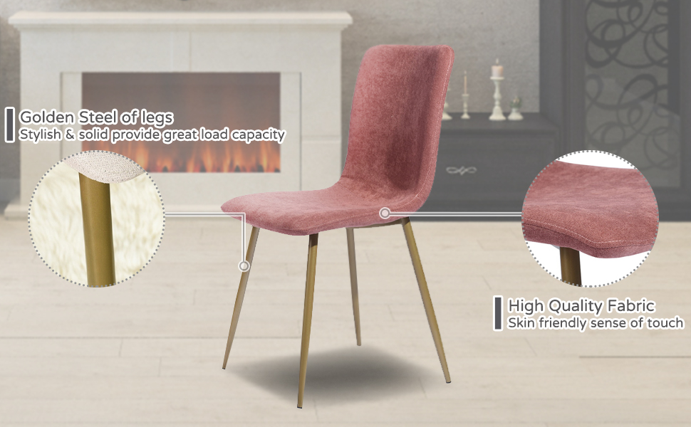 Soft Fabric Seat Dining Chair Hig Quality Set Resturant Chair