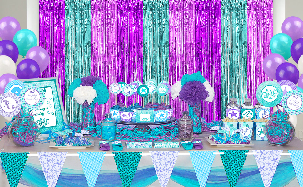 mermaid party decorations