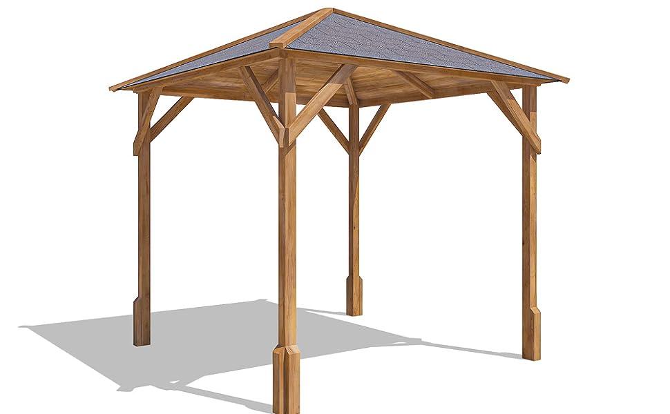 Dunster House Utopía 200 de Madera jardín Gazebo w2.0 m X d2.0 m, jardín Refugio – Fabricado en de Madera tratada a presión
