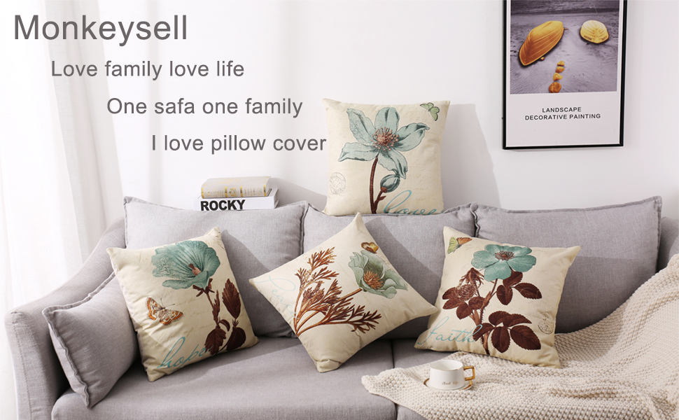 Cotton Linen Throw Pillow Case Cushion Cover